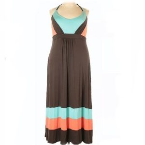 [American Rag Cie] Color Block Maxi Dress - 1X